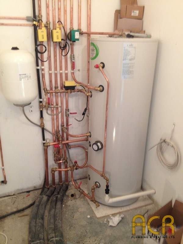 New Build Shower And Solar Heating System Acr Plumbing